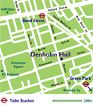 CLICK TO ENLARGE - Denholm Hall London office location map