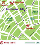 CLICK TO ENLARGE - Denholm Hall Moscow office location map
